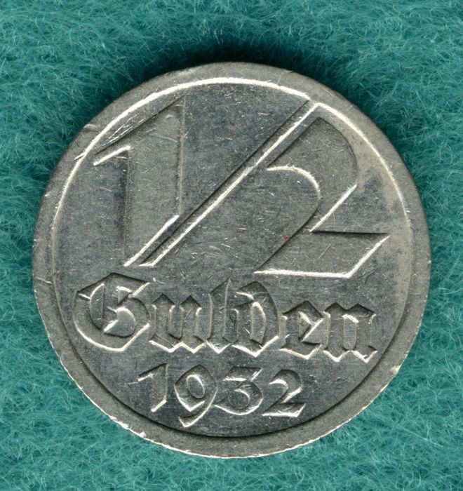 Gdansk - 1/2 Gulden 1932 - nickel