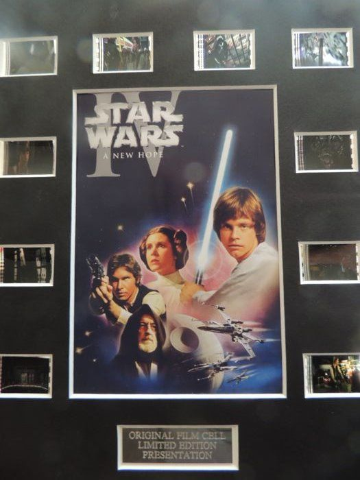 "Star Wars - 2 Original Film Cells Displays - ""Episode IV A New Hope"" & ""Solo"" - Limited Edition  - Film Cell"