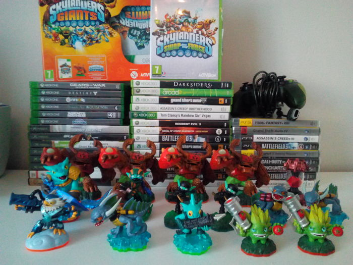 Big lot of gaming Xbox, Xbox360,Xbox One,PS3,PC - Skylanders, games, controllers (56)