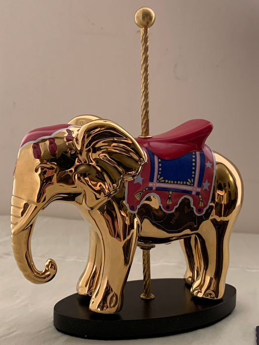 "The House of Fabergé- The Fabergé Golden Carousel ""The Elephant"" - Fine Porcelain - Gold for sale"