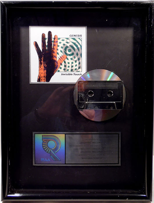 Genesis - Invisible Touch - Official RIAA award - 1996