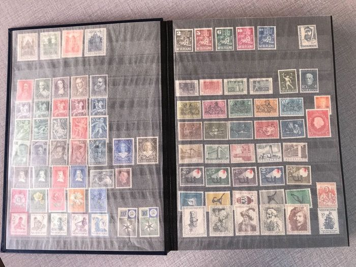 Holanda 1936/2009 - Stock book with stamps, sheetlets, booklets, blocks