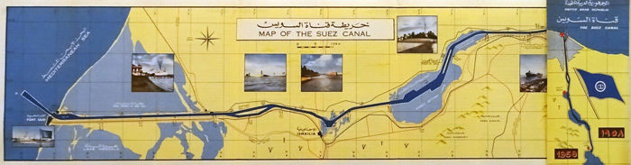 Anonymous - Map of the Suez Canal - 1958