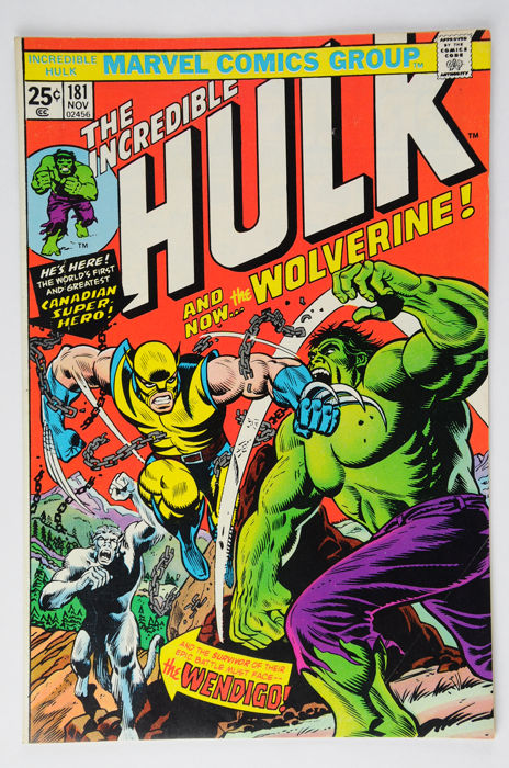 Incredible Hulk (Vol.1, 1962) #181, (VF/VF+) - (i-AMF Top Collection) - 1st Full Appearance of Wolverine - Eerste druk