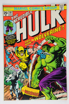 Incredible Hulk (Vol.1, 1962) #181, (VF/VF+) - (i-AMF Top Collection) - 1st Full Appearance of Wolverine - Ensipainos