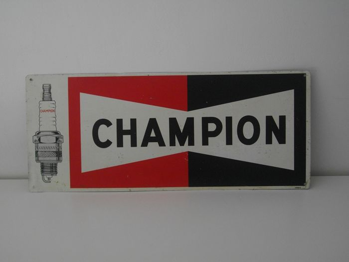 Placa publicitaria - Champion - 1950