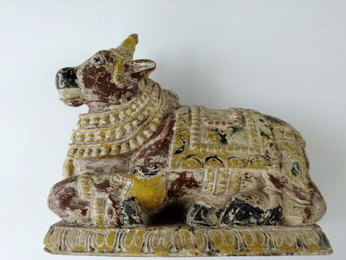Sculpture - Wood - Nandi - India - 19th century