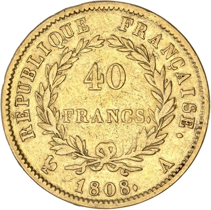 40 Francs 1808-A Napoléon I - Or