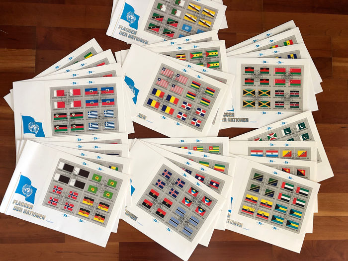 VN en Unicef 1980/1992 - Flags of Nations over 200 covers!