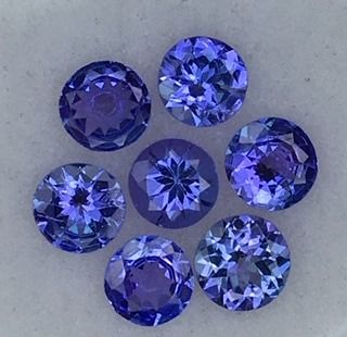 7 pcs Blu Tanzanite - 2.42 ct