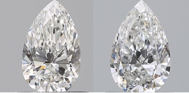 2 pcs Diamantes - 0.92 ct - Pera - D (incoloro), E - VS1, VS2
