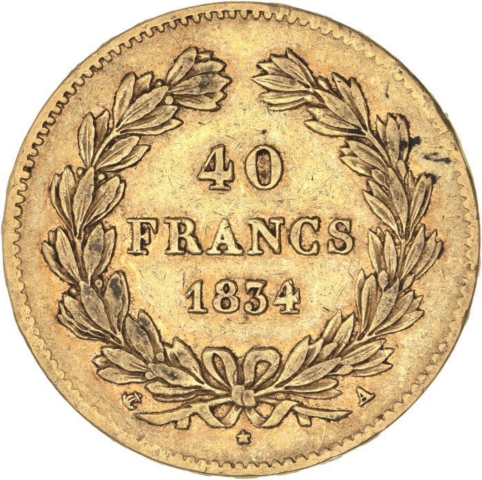 40 Francs 1834-A Louis Philippe I - Or