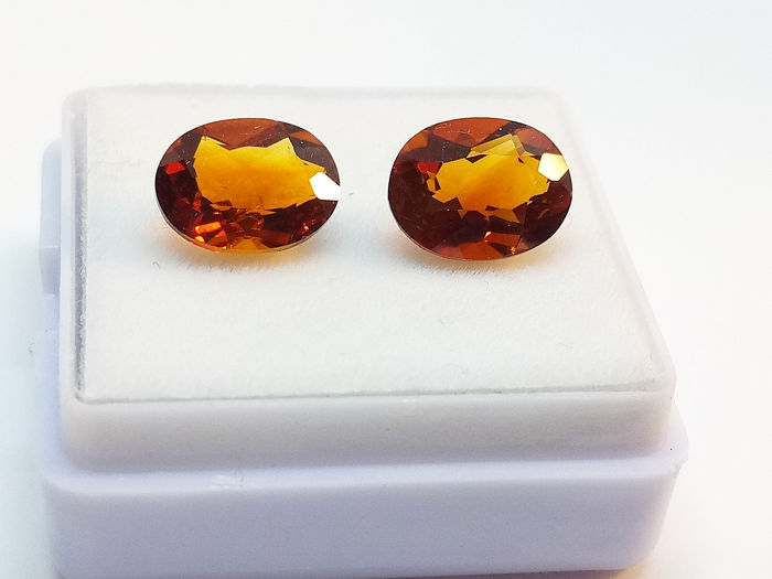 2 pcs Madere Color Citrine, Matched Pair - 3.50 ct