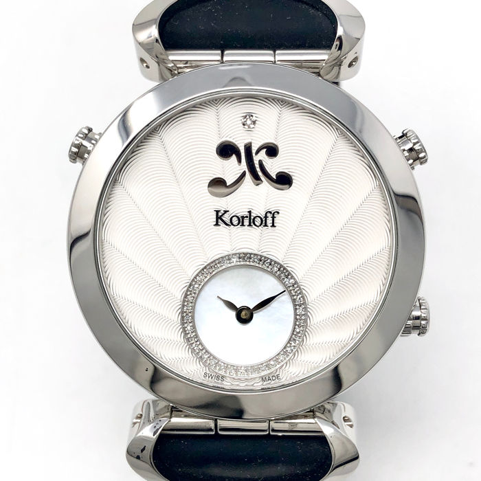 Korloff - Diamonds GMT Reversible Watch - MTZLK - Mujer - BRAND NEW