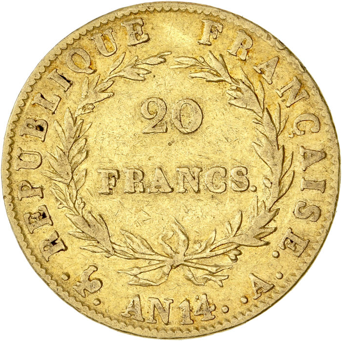 20 Francs An 14-A Napoléon I - Or