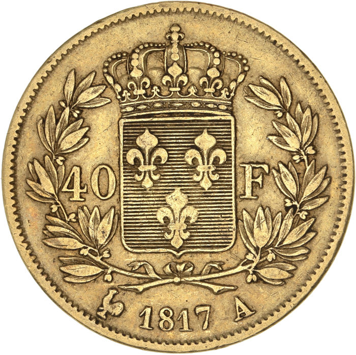 40 Francs 1817-A Louis XVIII - Or