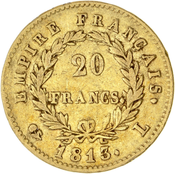 France - 20 Francs 1813-L Napoléon I - Or