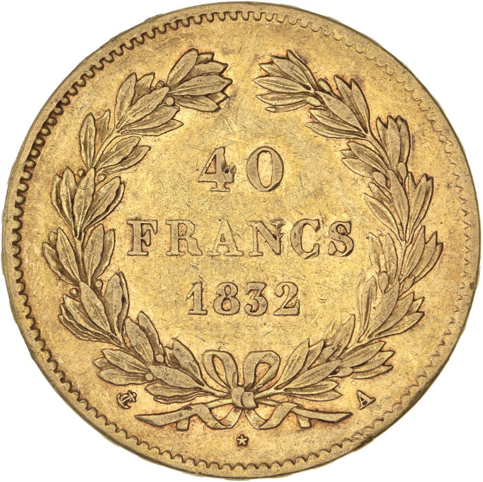 40 Francs 1832-A Louis Philippe I - Or