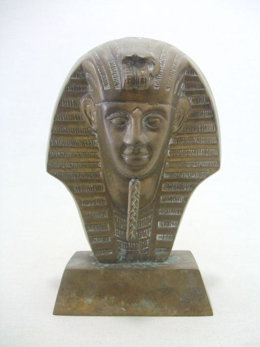 Pharaoh - Tutachamon - bust - bronze, copper, brass