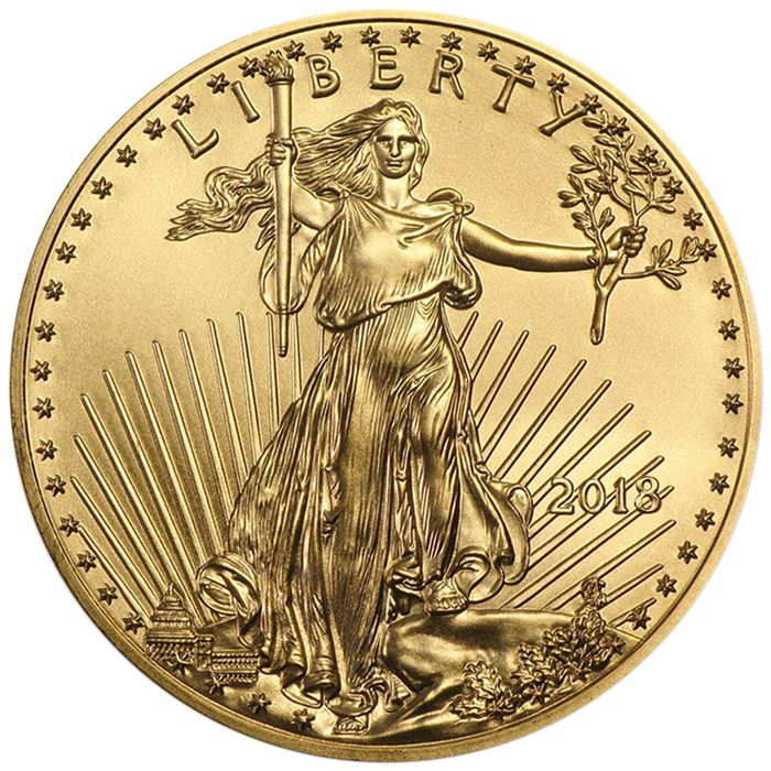 United States - 5 Dollars 2018 American Eagle - 1/10 oz - Gold Coins & Banknotes Gold for sale