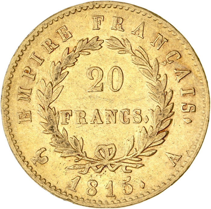 20 Francs 1815-A Napoléon I - Or