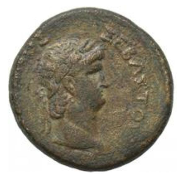 Roman Empire - Galatia, Koinon. AE, Nero with Poppaea (54-68 AD)