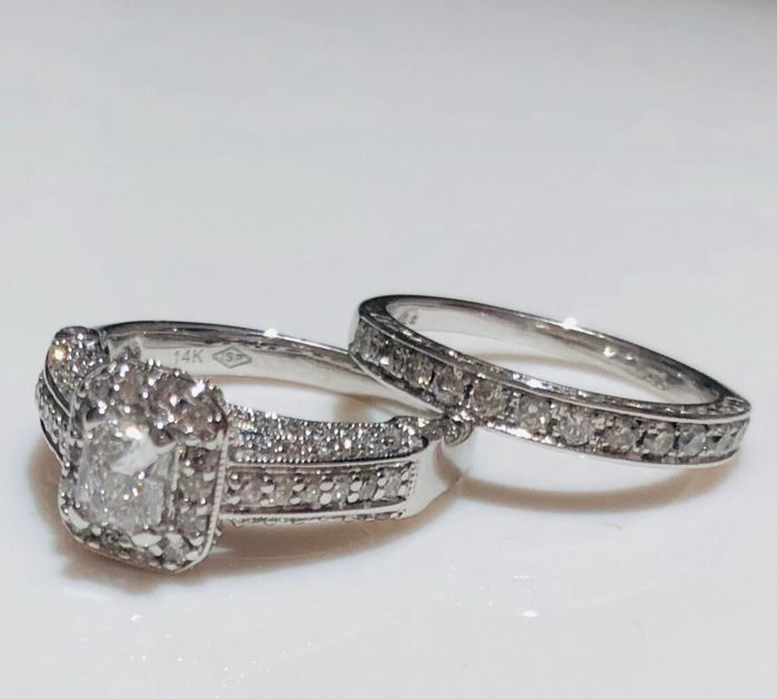 14 kt. White gold - Ring Diamond