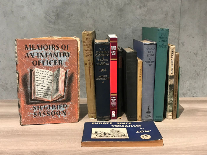 13  World War I related poetry and books - 1914/1999