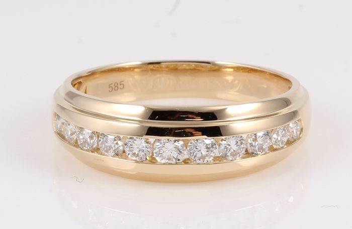 14 kt. Yellow gold - Ring - 0.55 ct Diamond