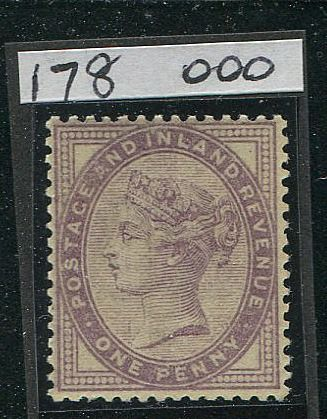 Groot-Brittannië 1881 - 1 pence lilac printed BOTH SIDES SG173a
