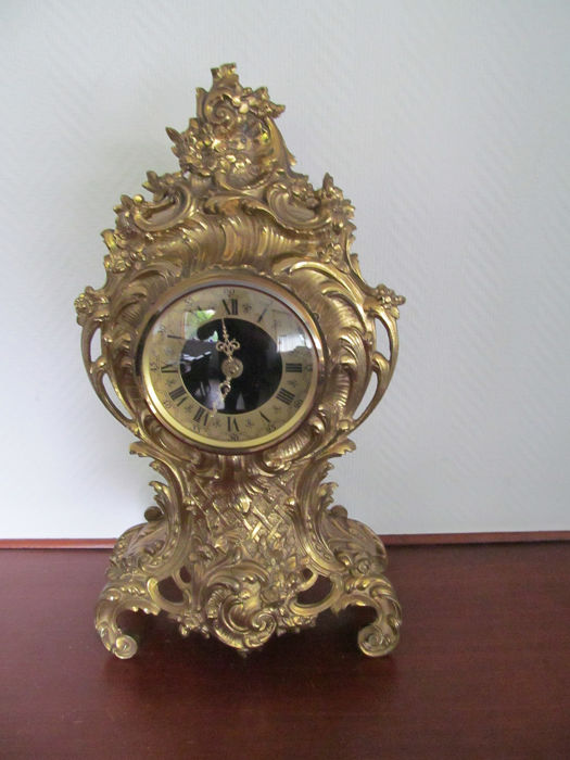 Large brass fireplace clock - Brass