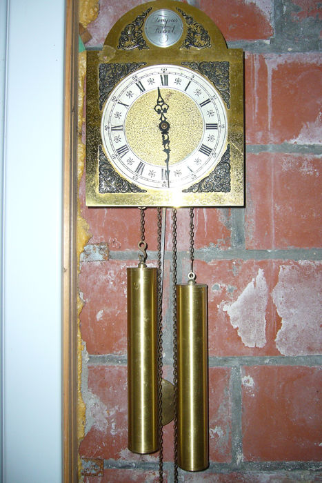 Wall clock (1) - Copper, Iron (cast/wrought), Wood
