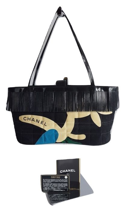 288f85e8a34611 Chanel - Fringed Choco Bar Shoulder bag - Catawiki
