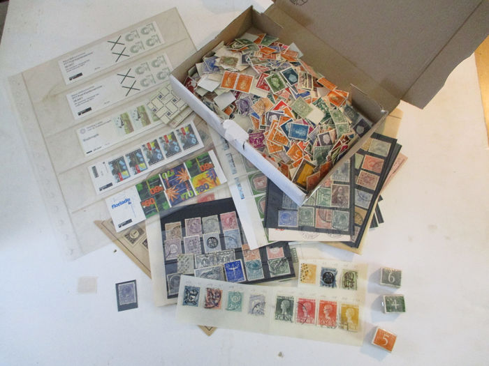 Wereld - Collection - Netherlands from 1872 onwards, postage stamps, letters, stamp booklets, stamp album