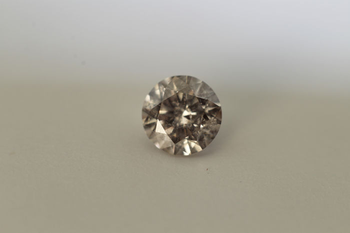 1 pcs Diamante - 0.16 ct - Brillante - J - I3 (piqué)