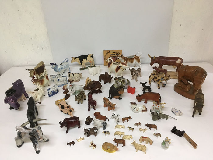 animals, Figure, Miniature - Composite, Earthenware, Iron (cast/wrought), Ivory, Onyx, Papier-mache, Plastic, Resin/Polyester, Stoneware, Terracotta, Wood