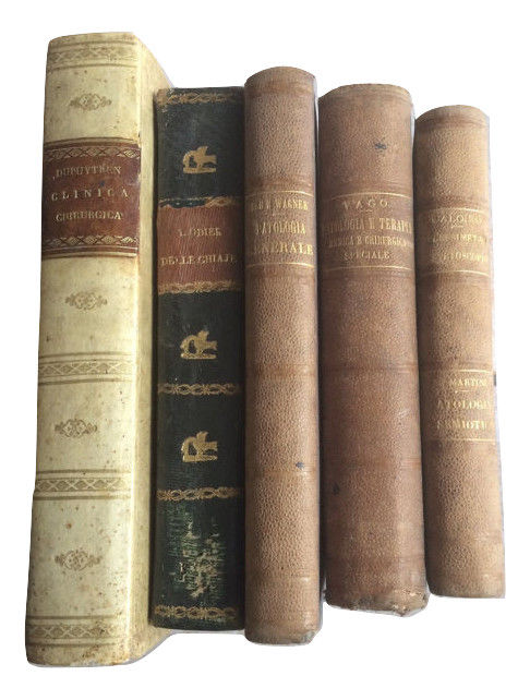 Lot with five books on medicine - 1824/1870
