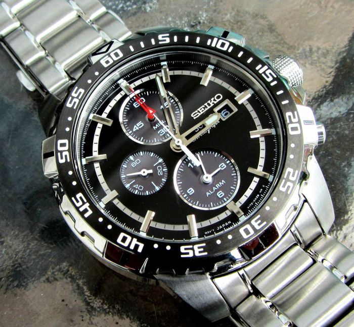 Seiko - Solar Alarm Chronograph Date Watch - SSC299P1 / V172-0AT0 - Heren - 2011-heden