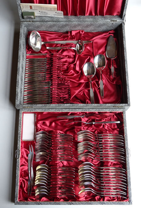 Couvert (80) - Silver plated - Netherlands - Second half 20th century