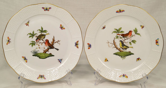 Herend - Flat plates - Rothschild bird - 1st choice (2) - Porcelain