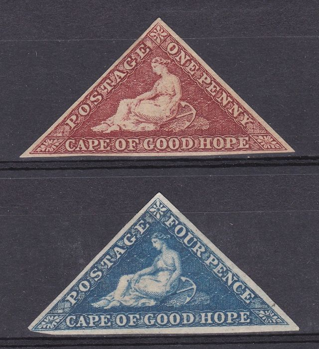 Brits Gemenebest 1853/1863 - Cape of Good Hope - 1d. and 4d. triangular