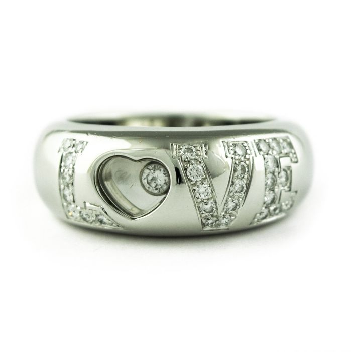 Chopard - 18 kt. White gold - Ring Diamond