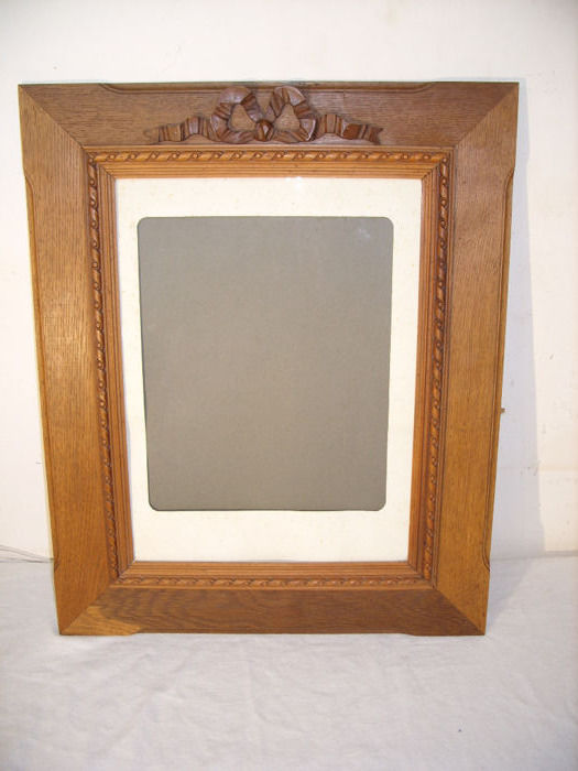 Photo frame with glass and passe - partout - Neoclassical - Oak glass paper