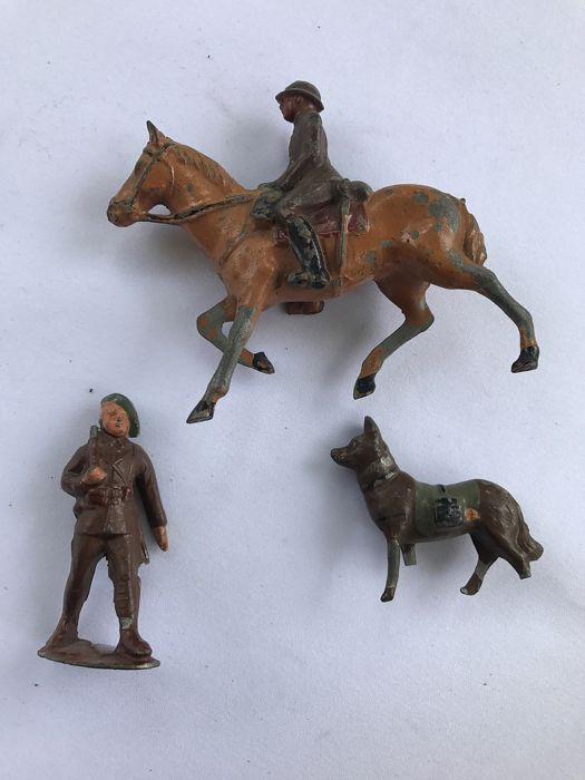 Tinnen soldaten merk onbekend  - niet gemerkt - military figures early 1900 - 1900-1909 - Belgium