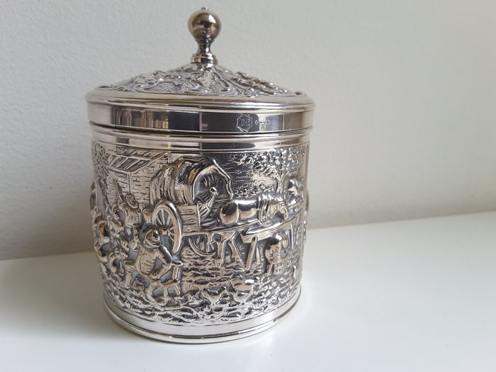 tea can (1) - Silverplate - Herbert Hooijkaas - Netherlands - 1960-1969