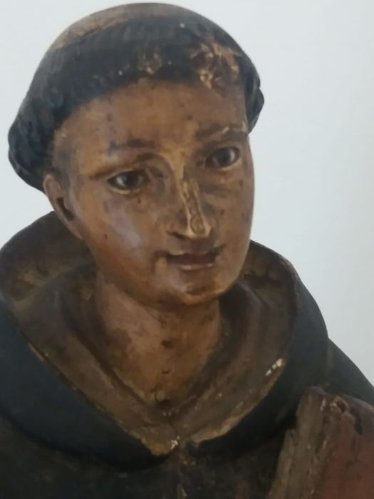 St. Albert - polychrome wooden sculpture with glass eyes - late 18th century