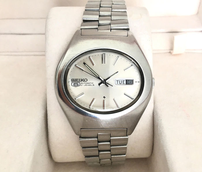 Seiko - 5 Automatic - All Stainless Steel - Gents Wristwatch - 6119-5440T - Heren - 1970-1979