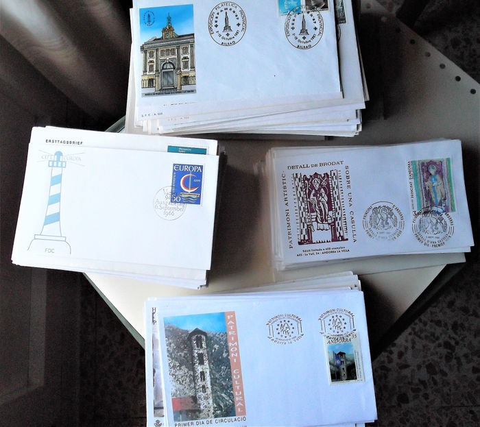 Europa - 507 First Day Covers/Commemorative from Spain, Liechtenstein, Spanish and French Andorra and Israel