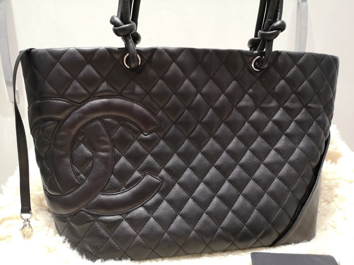 93a84497222b90 Chanel - Cambon Quilted Shopper Tote bag - Catawiki