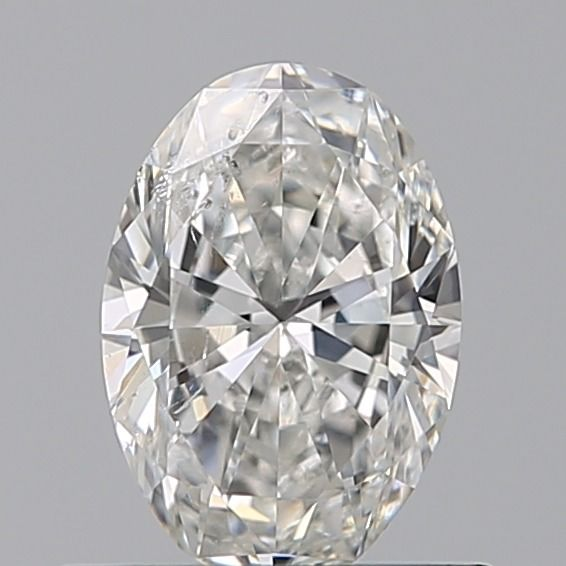 1 pcs Diamant - 0.50 ct - Oval - D (incolore), ---NO RESERVE RICE--- - SI2